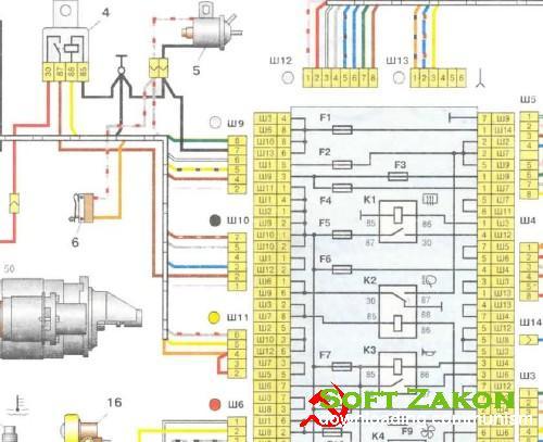 ВАЗ 2107 + Схема