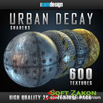 Gumroad – Urban Decay Shader Pack (physical) for Element 3D